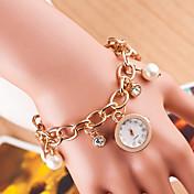 Mujer Reloj de Moda Reloj Pulsera Simulado Diamante Reloj Cuarzo La imitación de diamante Aleación Banda Plata Dorado Oro Rosa