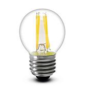 E26/E27 LED필라멘트 전구 G45 4 COB 400 lm 따뜻한 화이트 밝기조절가능 AC 110-130 V 1개