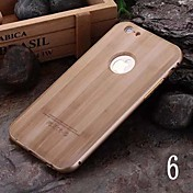 For iPhone 6 Case / iPhone 6 Plus Case Plating Case Back Cover Case Wood Grain Hard PC iPhone 6s Plus/6 Plus / iPhone 6s/6