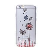 아이폰 6 / 6S에 대한 최신 민들레 패턴 스와 로브 스키 다이아몬드 고품질의 레이저 구호 터치 폰 케이스