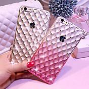 아이폰 6 플러스 / 기가 플러스에 대한 다이아몬드 고급 투명 실리콘 TPU 그라데이션 별이 빛나는 전화 케이스를 드롭 (모듬 색상)