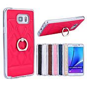 용 Samsung Galaxy Note 링 홀더 케이스 뒷면 커버 케이스 기하학 패턴 인조 가죽 Samsung Note 5
