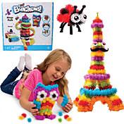 nuevos bunchems buen paquete juguete nuevo edificio de 370 piezas niños diy del juego de 36 accesorios de los niños del kit mejor regalo