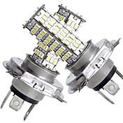 2 en 1 H4 120 SMD blanco llevó luces 450lm