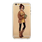 용 아이폰6케이스 아이폰6플러스 케이스 케이스 커버 투명 뒷면 커버 케이스 섹시 레이디 소프트 TPU 용 iPhone 6s Plus iPhone 6 Plus iPhone 6s 아이폰 6