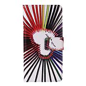 caja de cuerpo completo del patrón del amor lápiz de cuero de la PU con el soporte y la ranura de la tarjeta para el iPhone 6 / 6s