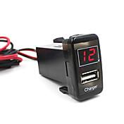 5v 2.1a coche puerto USB cargador de teléfono salpicadero voltímetro para Toyota Vigo excelente