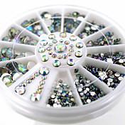 러블리-핑거-네일 쥬얼리-아크릴-1wheel White AB nail decorations-6cm wheel