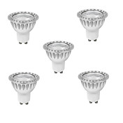 10W GU10 LED 스팟 조명 MR16 1 COB 400 lm 따뜻한 화이트 / 차가운 화이트 밝기 조절 AC 220-240 V
