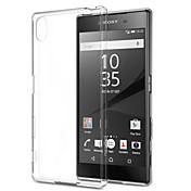 caso trasero transparente suave TPU ultra-delgada para Sony Xperia Z5 / Z4 / Z3 / Z2 / z3mini / z5mini / T3 / m2 / M4 / E3 / E4 / E4G / c4