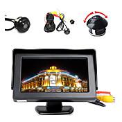 """4.3 """"Farb-LCD-Display-Monitor + 360 ° vorne / Seiten / hinten rückwärts Einparken hd Kamera"""