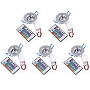 Luces de Techo Luces Empotradas LED de Alta Potencia 200-250 lm RGB Control Remoto Decorativa AC 85-265 V 5 piezas