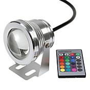 10W 수중 조명 800-1000 lm RGB 고성능 LED 리모컨 작동 / 방수 DC 12 V 1개