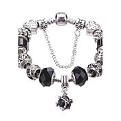 Damen Mädchen´ Bettelarmbänder Strang-Armbänder Kristall Europäisch Langlebig Modisch bezaubernd PerlenbesetztAcryl Strass versilbert