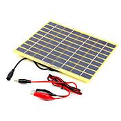 5w 18V 악어 클립 12V 배터리 (swb5018b)에 대한 등급 고효율 단결정 태양 전지 패널 충전기