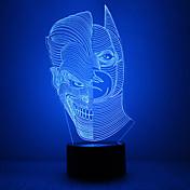 asombroso 3d luz lllusion llevó la lámpara de mesa de noche con forma de la cara doble con la forma del ayudante personal con forma de
