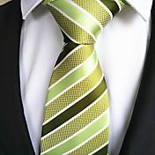 패셔너블 옐로 / 그린 패브릭 남성 Tie Bar-1PC
