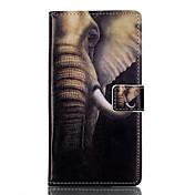 Para Funda Huawei / P9 / P9 Lite Cartera / Soporte de Coche / con Soporte / Flip Funda Cuerpo Entero Funda Elefante Dura Cuero Sintético