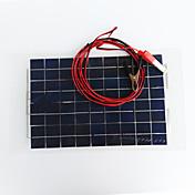zdm® 10w 12v de salida del panel solar de silicio monocristalino 0.65 (dc12-18v)