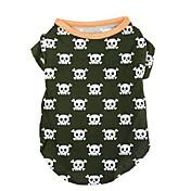 개 티셔츠 그린 강아지 의류 여름 해골 패션 / 캐쥬얼/데일리