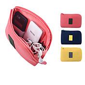 1개 여권 지갑& ID홀더 이어폰 홀더 / 케이블 와인더 방수 먼지 방지 휴대용 용 여행용 보관함 옥스포드 의류-옐로우 블루 핑크