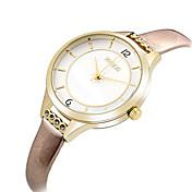 아가씨들 패션 시계 손목 시계 캐쥬얼 시계 석영 / 가죽 밴드 멋진 캐쥬얼 우아한 블랙 블루 브라운 핑크 로즈 상표 KEZZI