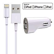 충천기 키트 차량용 충전기 Other 2 USB 포트 케이블과 iPad 용 / For iPhone(5V , 2.4A)