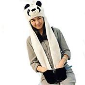 Kigurumi 파자마 팬더 모자 페스티발/홀리데이 동물 잠옷 할로윈 패치 워크 인조 모피 모자 에 대한 남여 공용 할로윈 카니발 새해