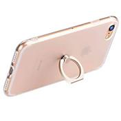 용 링 홀더 / 투명 케이스 뒷면 커버 케이스 단색 소프트 TPU Apple 아이폰 7 플러스 / 아이폰 (7) / iPhone 6s Plus/6 Plus / iPhone 6s/6