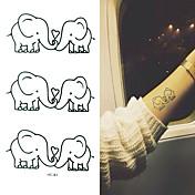 Tatuajes Adhesivos Series de Animal Caricaturas Bebé Niños Mujer Hombre flash de tatuaje Los tatuajes temporales