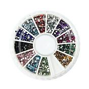 2000 Decoración de uñas Las perlas de diamantes de imitación maquillaje cosmético Dise?o de manicura