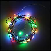 batería 3AA alimentado 5m 50 conducido alambre de cinta de cobre luces de Navidad iluminación de la decoración de vacaciones con caja de