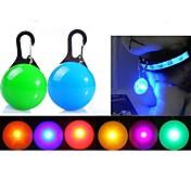 고양이 개 LED안전 조명 LED 조명 포함 배터리 솔리드 레드 화이트 그린 블루 핑크 옐로우 오렌지 실버 플라스틱