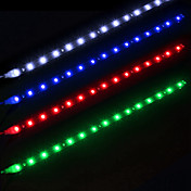 ziqiao 2pcs / lot 30cm 15 SMD weiße wasserdichte Lichter hohe Leistung Auto Auto Dekor Flexible LED-Streifen