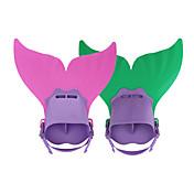 스노쿨링 패키지 다이빙 지느러미 다이빙 패키지 조절 가능한 핏 짧은 오리발 다이빙 & 스노쿨링 수영 PP TPR