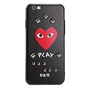 Para Diseños Manualidades Funda Cubierta Trasera Funda Dibujos Corazón Dura Policarbonato para AppleiPhone 7 Plus iPhone 7 iPhone 6s Plus