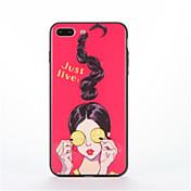 Para con Soporte Diseños Funda Cubierta Trasera Funda Chica Sexy Dura Policarbonato para AppleiPhone 7 Plus iPhone 7 iPhone 6s Plus