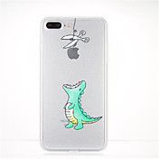 Para Diseños Funda Cubierta Trasera Funda Logo Playing With Apple Suave TPU para AppleiPhone 7 Plus iPhone 7 iPhone 6s Plus iPhone 6 Plus
