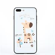 Para con Soporte Diseños Funda Cubierta Trasera Funda Animal Dura Policarbonato para AppleiPhone 7 Plus iPhone 7 iPhone 6s Plus iPhone 6