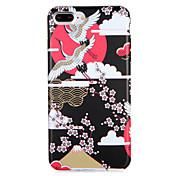 애플 iphone7 7 플러스 케이스 커버 패턴 다시 커버 케이스 크레인 동물 꽃 소프트 tpu 6s 플러스 6 플러스 6s 6