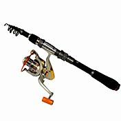 스피닝 로드 Telespin Rod 카프 로드 낚시대 Surf Rod 낚시대 + 낚시릴 Telespin Rod 메탈 알루미늄 플라스틱 EVA 탄소 180/210/240/270/300/330 M바다 낚시 플라이 피싱 베이트 캐스팅 스피닝 민물 낚시