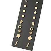 스터드 귀걸이 유니크 디자인 기하학적 합금 보석류 용 파티 일상 캐쥬얼 1세트