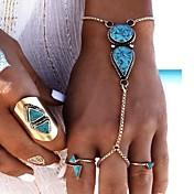 Damen Ring-Armbänder Türkis Modisch Aleación Geometrische Form Schmuck Für Party Geburtstag 1 Stück