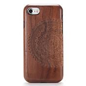 용 케이스 커버 엠보싱 텍스쳐 패턴 뒷면 커버 케이스 나무결 만다라 하드 나무 용 Apple 아이폰 7 플러스 아이폰 (7) iPhone 6s Plus iPhone 6 Plus iPhone 6s 아이폰 6