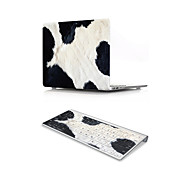For MacBook Air 11 13 Pro Retina 13 15 Macbook 12 Case Cover PVC Material Cow Hair Pattern with US Silicone Keyboard Protector