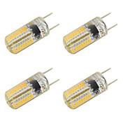 3W LED Bi-pin 조명 T 64 SMD 3014 260 lm 따뜻한 화이트 차가운 화이트 V 4개