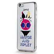 애플 iphone7 7 플러스 케이스 커버 도금 거울 패턴 다시 커버 케이스 만화 부드러운 tpu 6s 플러스 6 플러스 6s 6
