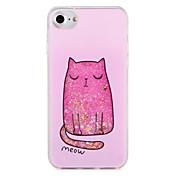 애플 아이폰 7 7 케이스 고양이 반짝이 광택 패턴 하드 PC 6s plus 6 plus 6s 6