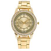 Hombre Reloj de Vestir Reloj de Moda Chino Cuarzo Aleación Banda Casual De Lujo Elegantes Plata Dorado Oro Rosa