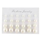 Hombre Mujer Pendientes cortos Elegant joyería de disfraz Perla Perla Artificial Diamante Sintético Gota Bola Joyas Para Diario Casual
